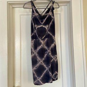 Loomstate Organic Gray Tie-Dye Braid Strap Dress S